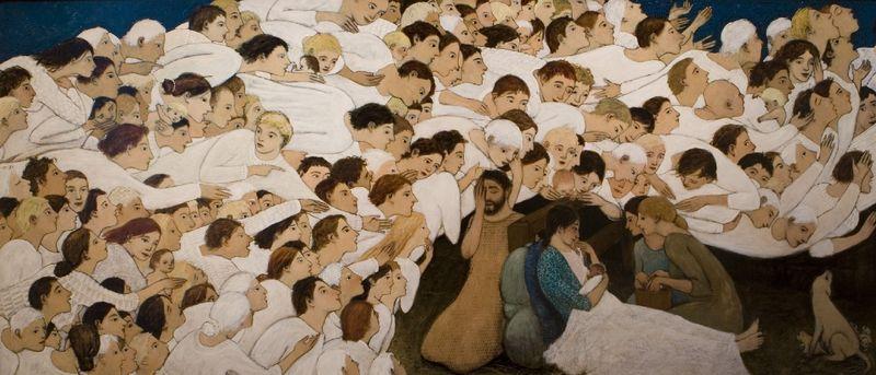 Brian Kershisnik Nativity (full)