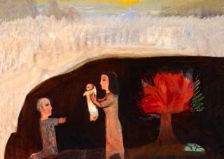 Nativity-with-Burning-Bush-1991-Albert-Herbert-1925-2008